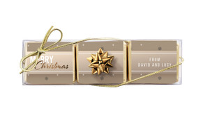 Glossy Gift Gold Mini Chocolate Trio Favour