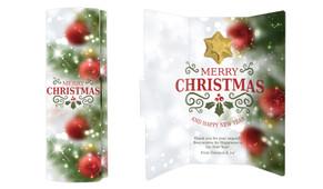 Bokeh Tree Christmas Chocolate Greeting Card