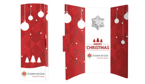 Corporate Christmas Chocolate Greeting Card