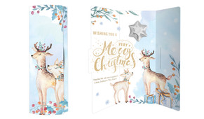 Deer Watercolour Christmas Chocolate Greeting Card