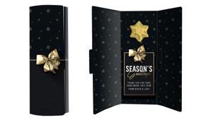 Glossy Gift Black Christmas Chocolate Greeting Card