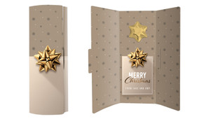 Glossy Gift Gold Christmas Chocolate Greeting Card