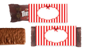 Stripes In Red Individual TimTam TM (Box Of 150)