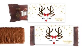 Reindeer Face Individual TimTam TM (Box Of 150)