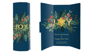Joy Christmas Chocolate Greeting Card