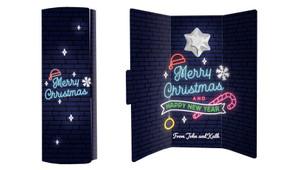 Neon Christmas Chocolate Greeting Card