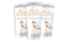 Deer Watercolour Personalised Christmas Chocabox