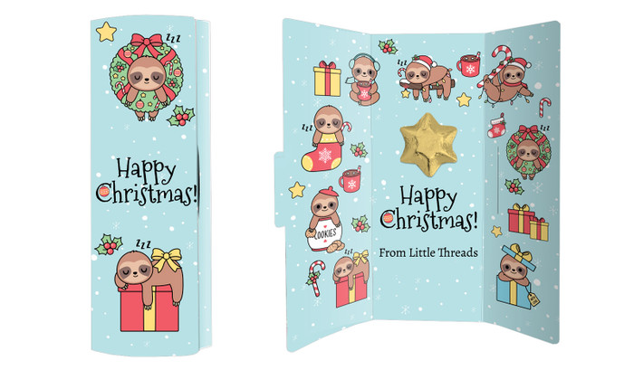 Sloth Christmas Chocolate Greeting Card