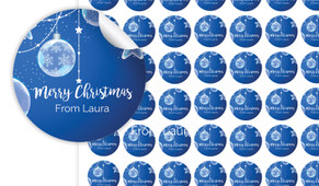 Crystal Baubles Personalised 25mm Labels
