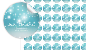 Festive Bunting Personalised 25mm Labels