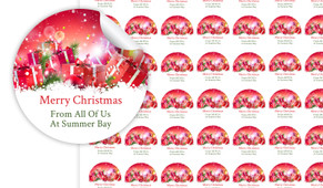 Gifts In The Snow Personalised 25mm Labels