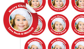 Add A Photo Personalised 65mm Labels