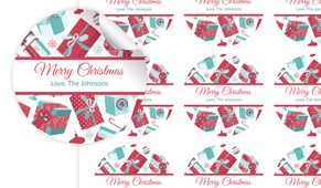 Gifts Of Christmas Personalised 65mm Labels