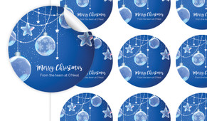 Crystal Baubles Personalised 65mm Labels