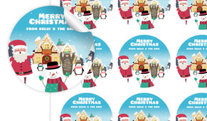 At The North Pole Personalised 65mm Labels