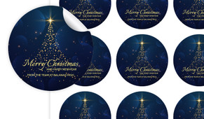 Blue Night Personalised 65mm Labels