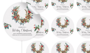 Festive Foliage Personalised 65mm Labels