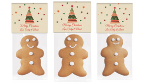 Abstract Tree Gingerbread Man With Topper