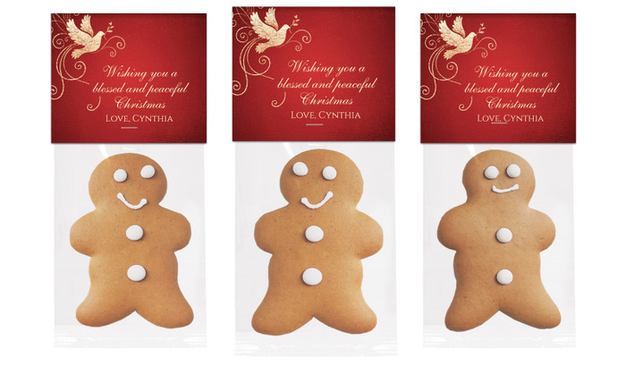 Dove In Gold Gingerbread Man With Topper