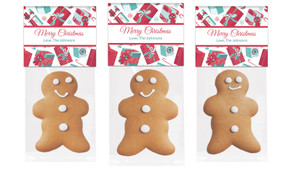 Gifts Of Gingerbread Man With Topper