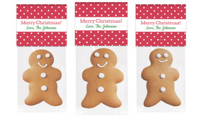 Red Polkadot Gingerbread Man With Topper