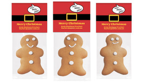 Santa Belt Gingerbread Man With Topper