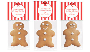Stripes In Red Gingerbread Man With Topper