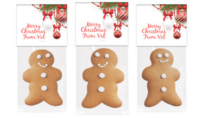 White Baubles Gingerbread Man With Topper