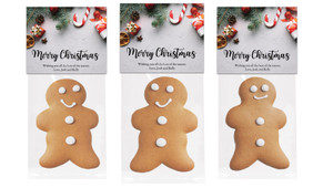 Christmas Background Gingerbread Man With Topper