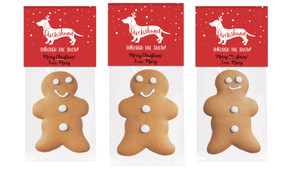 Dachshund Through The Snow Gingerbread Man With Topper