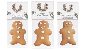 Festive Foliage Gingerbread Man With Topper