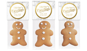 Marble And Gold Gingerbread Man With Topper