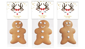 Reindeer Face Gingerbread Man With Topper