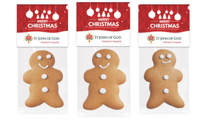 Corporate Christmas Gingerbread Man With Topper