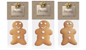 Glossy Gift Gold Gingerbread Man With Topper