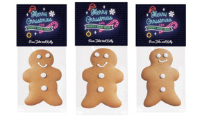 Neon Gingerbread Man With Topper