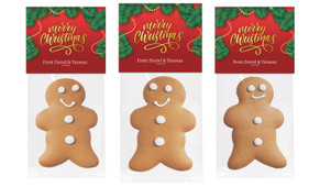 Red Festive Gingerbread Man With Topper