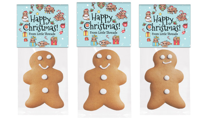 Sloth Gingerbread Man With Topper