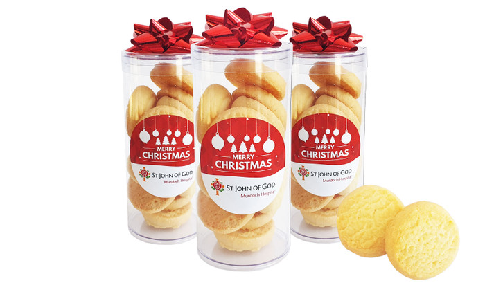 Shortbread Cookie Filled Gift Tube