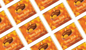 Bokeh Candle Personalised Diwali Mini Chocolates