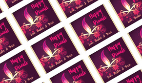 Abstract Flame Personalised Diwali Mini Chocolates