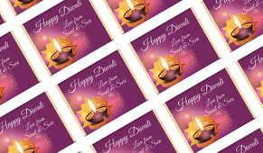Purple Diwali Personalised Mini Chocolates