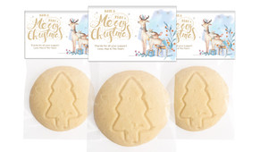 Deer Watercolour Personalised Large Christmas Cookie