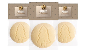 Glossy Gift Gold Personalised Large Christmas Cookie