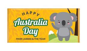 Cute Koala Australia Day Personalised Chocolate