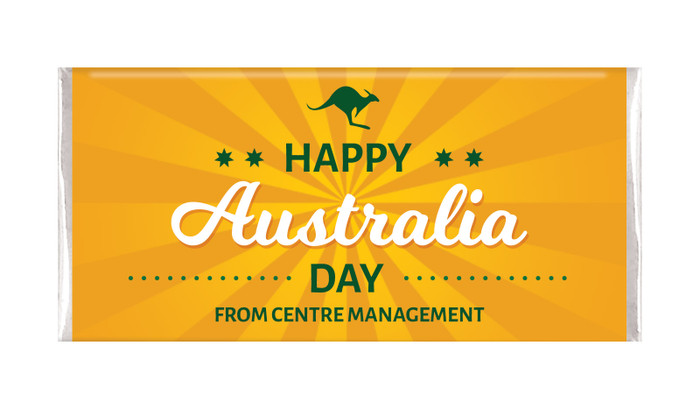 Green & Gold Australia Day Personalised Chocolates