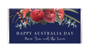 Native Flowers Australia Day Personalised Chocolates