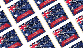 Australian Flag Australia Day Mini Chocolates