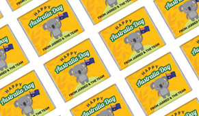 Cute Koala Australia Day Mini Chocolates