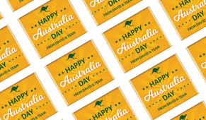Green & Gold Australia Day Mini Chocolates